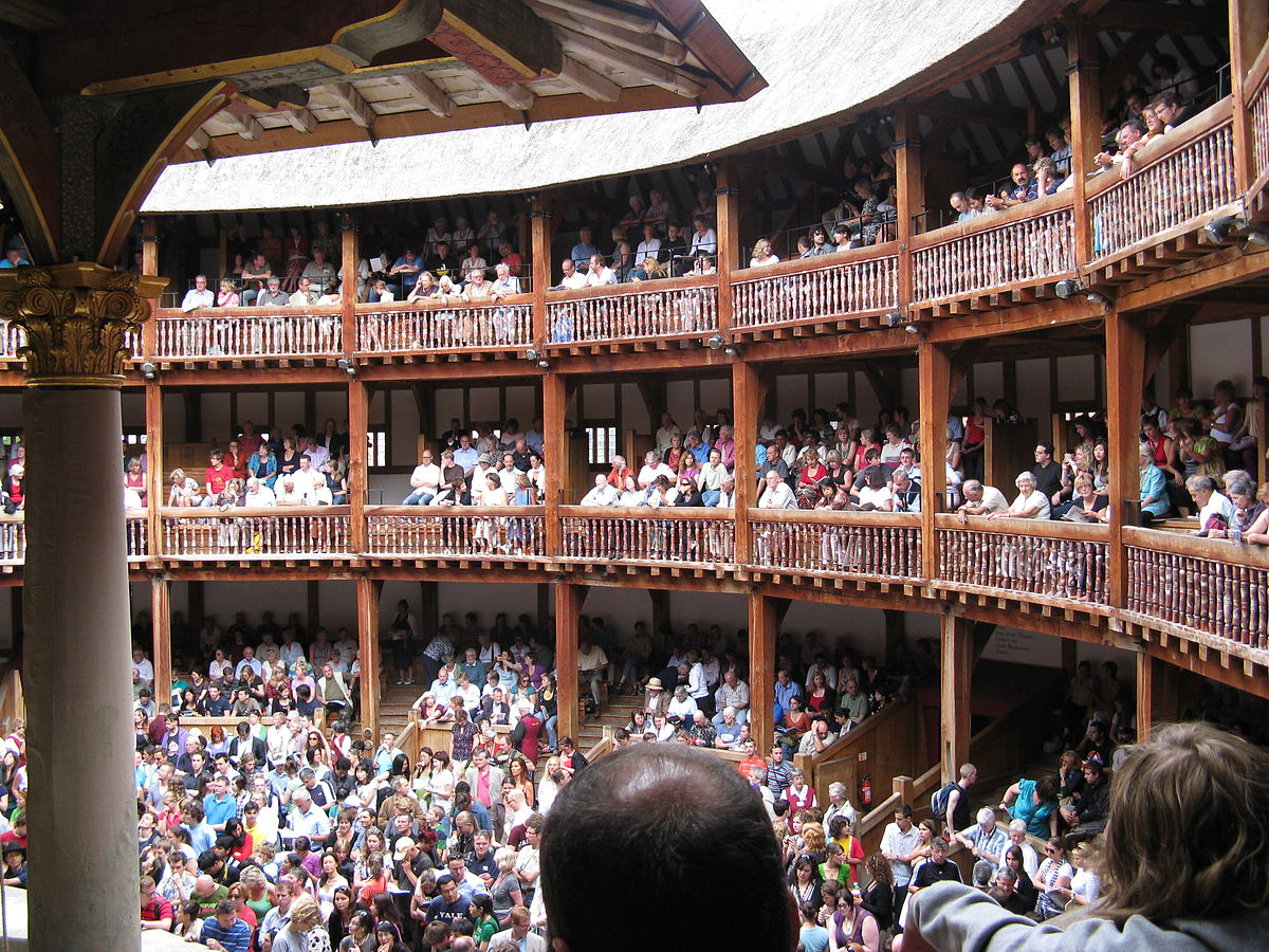 Audience in the Globe Theatre
